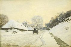 Artify Collections - Cart on the Snow Covered Road with Saint-Simeon Farm By Claude Monet, $105.16 (http://artifycollections.com/cart-on-the-snow-covered-road-with-saint-simeon-farm-by-claude-monet/)