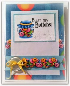 Bust My Buttons! | EMA-gination,. Image: Jargon Bundle from Digital Pantry LLC Digital Doodles Patterned paper, card stock, button and twine from my stash