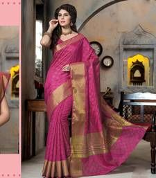 Buy Pink woven Silk saree with blouse manipuri-silk-saree online