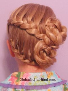 Half-French Braided Updo from Babes in Hairland