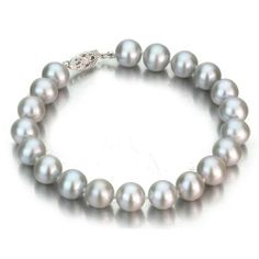 14k White Gold 8-9mm Grey Freshwater Cultured Pearl Bracelet AA+ Quality Pearls, 7 Inch Unique Pearl. $109.00. Save 75% Off! Pearl Bracelet, Pearl Necklace, Jewelry Bracelets, White Gold, Pearls, Grey, Unique, Silver, String Of Pearls