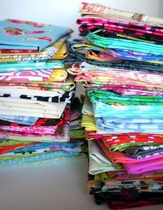 fat quarter set--8 pieces--2 yards--variety of designers and collections. $12.00, via Etsy.