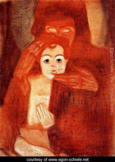 Mother And Child Aka Madonna - Egon Schiele - www.egon-schiele.net