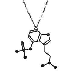 Molecular Addictions // The Psilocybin Mushrooms Necklace by arohasilhouettes, via Flickr