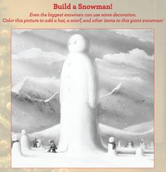 """Build a snowman"" with a little help from WHEN IT SNOWS by Richard Collingridge!"