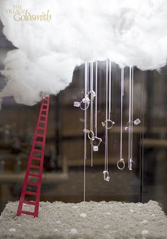 "THE VILLAGE GOLDSMITH, Victoria Street, Wellington, New Zealand, ""All she ever thinks about is Love. Find her in the clouds above"", creative by Inspired Jewellery, pinned by Ton van der Veer"
