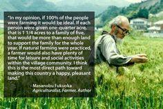 Masanobu Fukuoba's thoughts on farming and life