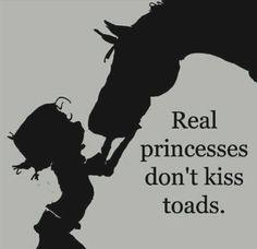 They kiss horses