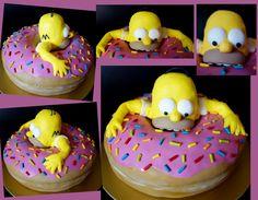 Torta, cake Homer Simpson