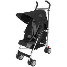 Maclaren Triumph Lightweight Umbrella Fold Single Baby Stroller Black  Charcoal Travel Stroller 7a6c259bb8
