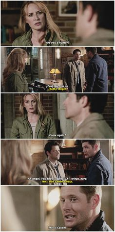 He doesn't have a harp, Dean!