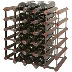 30 Bottle Cherry Wine Rack by Final Touch  -Commercial Grade & Expandable -Steel crossed frame on front and back locks into wood. -Wine rack is very sturdy; keeps its shape and will not wobble. -Neck label protectors included. -Easy to assemble. -Cherry finish. -Set is easy to expand vertically or horizontally using optional rack connectors and additional rack.