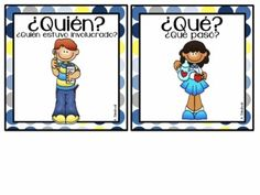 FREE 5 W& for Reading and Writing in Spanish and English Bilingual Kindergarten, Bilingual Classroom, Kindergarten Language Arts, Bilingual Education, Spanish Classroom, Teaching Spanish, Elementary Spanish, Kindergarten Writing, Literacy Activities