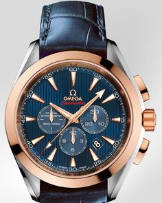 OMEGA Watches: Specialities Olympic Collection London 2012 - Steel-red gold on leather strap - 522.23.44.50.03.001