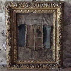 Antique frame around anything is art