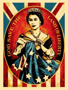 """God Save The Queen"" Art Print by Shepard Fairey"
