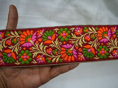 Lace Trims – Jacquard Trim By The Yard Sari Border – a unique product by indianlacesandfabric on DaWanda
