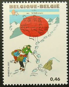 13569  Framed Postage Stamp Art  Tintin in by PassionGiftStampArt, $12.90