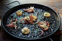 Special: squid ink paella at the Robert Burns Hotel in Collingwood. Robert Burns, Paella, Good Food, Restaurant, Ink, Restaurants, India Ink, Clean Eating Foods, Supper Club