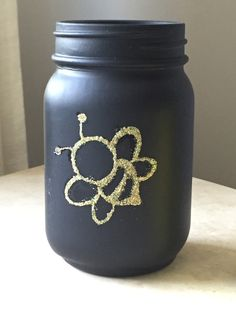 Bumble bee Mason Jars - centerpiece - party decor - mommy to bee favors bee party decor - buzz- bride to bee shower decor - party decoration