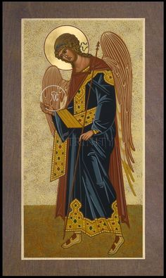 Gabriel Archangel by J. Religious Images, Religious Icons, Religious Art, Saint Gabriel, Archangel Gabriel, Jesus Christus, Principles Of Art, Angels Among Us, Albrecht Durer
