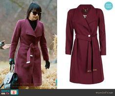 Quinn's purple coat on UnReal. Outfit Details: https://wornontv.net/92395/ #UnReal