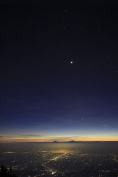 n-a-s-a: 4 Planet Sunset; image credit and copyright: Jia Hao  Petit: off to count the stars … g'night, good people ♥ sweetest dreams