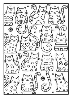 Adult Coloring Pages Cat from Animal Coloring Pages category. Printable coloring pictures for kids that you could print out and color. Have a look at our collection and printing the coloring pictures free of charge. Cat Coloring Page, Coloring Book Pages, Free Coloring Sheets, Kids Coloring, Colouring In, Colouring Pages For Kids, Coloring Pages To Print, Mandala Coloring, Cat Quilt