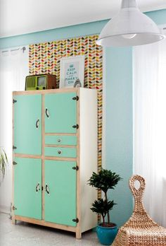 Alacena aparador armario mueble de cocina retro for Muebles de cocina manolo