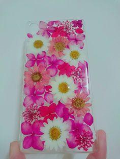 Anny's workshop手作押花手機保護殼,爭艷 (歡迎訂製) - Anny's workshop   Pinkoi Sony Xperia Xa, Real Flowers, Phone Cases