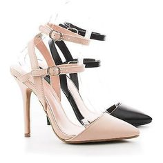 By Wild Diva, D'Orsay Pointy Toe Strappy Ankle Stiletto Dress Heels Ankle Straps, Strap Heels, Pumps Heels, Stiletto Heels, Classic Pumps, Shoe Show, Pink Beige, Dress And Heels, Diva