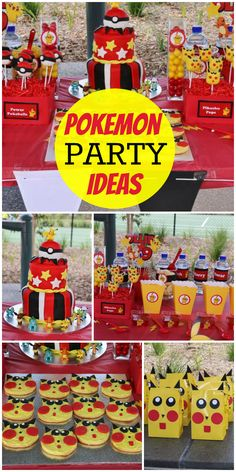 A Pokemon boy birthday party with lots of games and Pokemon goodies and gumball. A Pokemon boy birthday party with lots. 9th Birthday Parties, Birthday Party Games, Birthday Fun, Pokemon Birthday Cake, Birthday Ideas, Football Birthday, 11th Birthday, Cake Birthday, Party Time