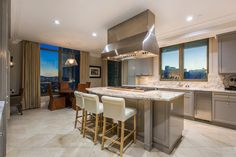The dining room will comfortably seat ten, whereas the kitchen is a gourmet masterpiece finished in Carrara Marble. Selling Real Estate, Luxury Real Estate, Kitchen Dining, Dining Room, Carrara Marble, Luxury Homes, Las Vegas, Table, Furniture