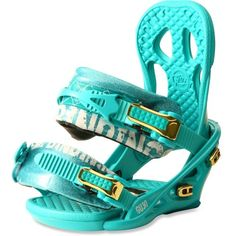 New snowboard bindings- my old ones drive me INSANE and I love the color of these ones!