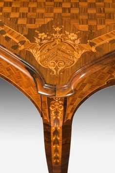 Rosewood and marquetry writing table | From a unique collection of antique and modern tables at https://www.1stdibs.com/furniture/tables/tables/