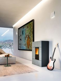 Stream, wood pellet stove by Mcz