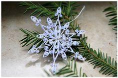 Baumschmuck Schneeflocke Weihnachtsstern Weiß Deko Von Liebeabies Auf  DaWanda.com
