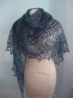Easy As Pie Shawl - Free at Ravelry. Fingering weight