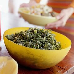 Rolled Greens | MyRecipes.com - Collard greens are members of the cabbage family that are leafy, full of fiber, and packed with nutrients. Slow-cooking greens with onion and bacon adds true Southern flavor. Serve with cornbread to soak up the rich, leftover broth known as pot likker.