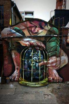 Impressively-Detailed Mural Crafted Using Only Spray Paint