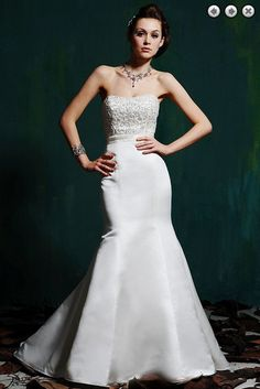 >> Click to Buy << free shipping Simple weding new fashion zipper bridal gowns long plus size sweetheart satin dress beaded Mermaid wedding dresses #Affiliate