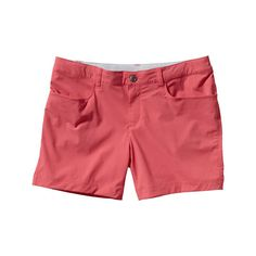 """Women's Patagonia Quandary Shorts 5"""" - Ginger Berry Casual Bottoms ($59) ❤ liked on Polyvore featuring activewear, activewear shorts, ginger berry, patagonia sportswear and patagonia"""
