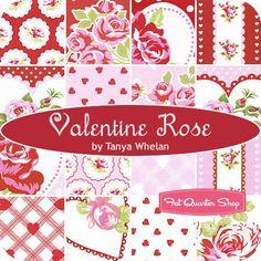 Valentine Rose Fat Quarter Bundle Tanya Whelan for Free Spirit Fabrics