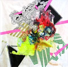 Super colorful! I love the intensecolors combination that pops out fromKim Carlino's paintings. Her abstract compositions, realized with ink, watercolor and other mixed media materials, are reall...