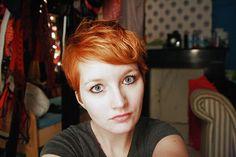 Beautiful orange pixie cut