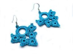 Romantic Hand Crocheted Lace Flower Earrings by accessoriesbynez