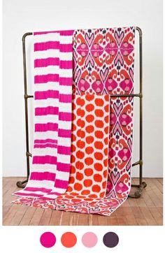 Color Collective // Madeline Weinrib via Amy Sia, featuring bright fuchsia, orange, pink, touches of black, and grounded in white