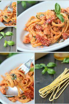 Tagliatelle mit Lachs Ricotta, Japchae, Pasta Dishes, Spaghetti, Pizza, Meals, Cooking, Ethnic Recipes, Food Heaven