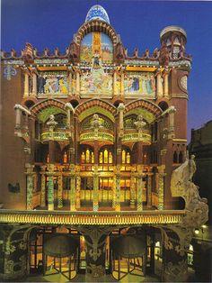 "Mosaics of the Palau de la Música Catalana ""Palace of Catalan Music"" – Barcelona, Spain Barcelona City, Barcelona Catalonia, Barcelona Travel, Art Nouveau Architecture, Amazing Architecture, Art And Architecture, Beautiful Buildings, Beautiful Places, Modernisme"