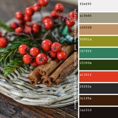 holiday evergreen and berries colors Christmas Berries, Christmas Colors, Christmas Holiday, Green Color Pallete, Color Red, Colour Schemes, Color Combinations, Holiday Icon, Colorful Decor